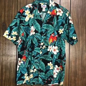 Hawaii Large Camp Shirt Tropical Resort Vacation